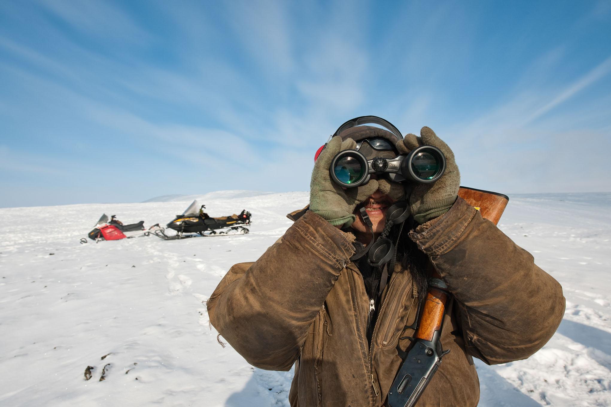 caribou hunt Alaska Arctic polar circle